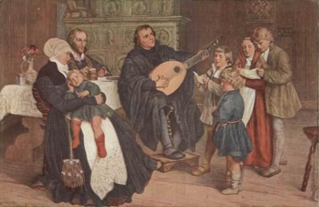 Luther im Kreise seiner Familie