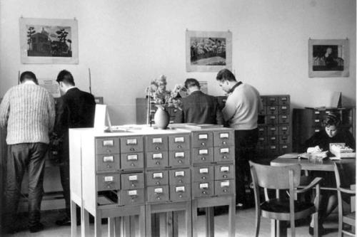 Bibliothekskatalog Karteikarten